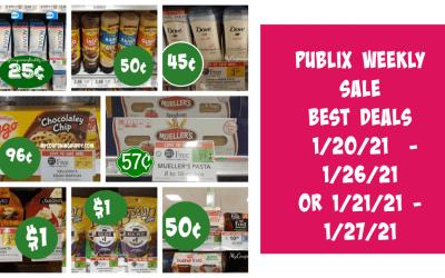 Publix Weekly Sale BEST DEALS 1/20/21 – 1/26/21 OR 1/21/21 – 1/27/21