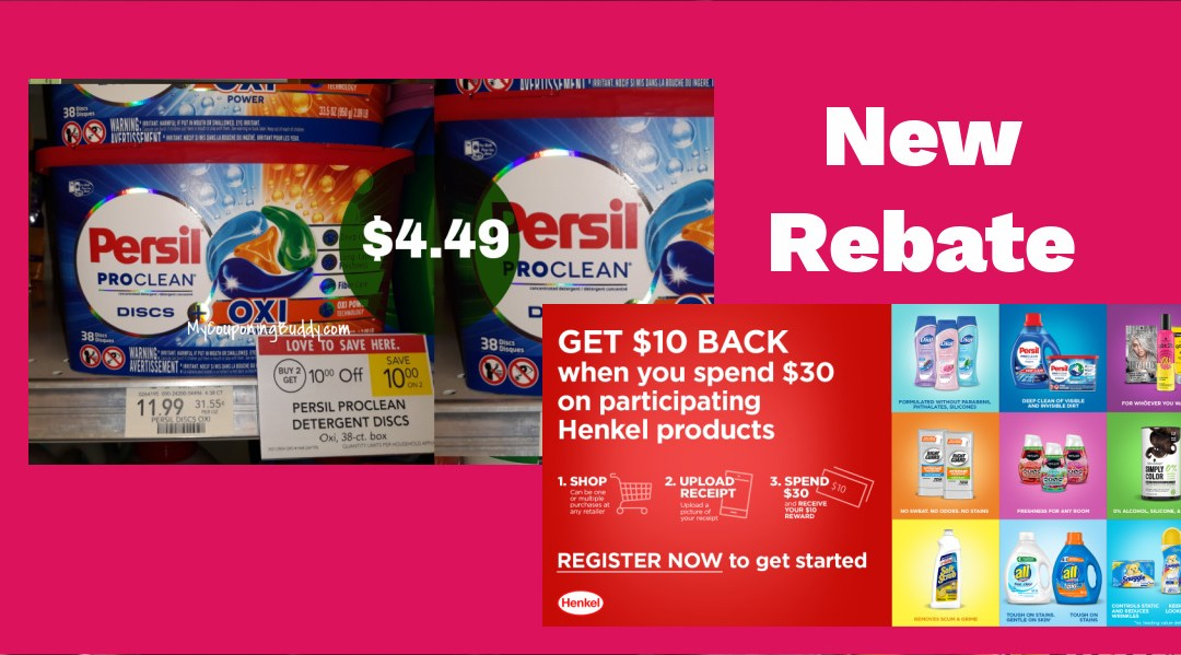 New Henkle Rebate on Persil at Publix