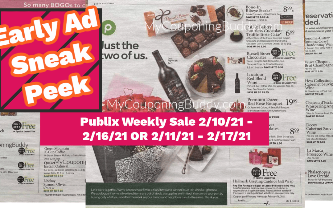 Early Ad Preview Publix Weekly Sale 2/10/21 – 2/16/21 OR 2/11/21 – 2/17/21