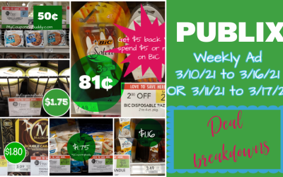 Best Deals ~ Publix Weekly Sale 3/10/21 TO 3/16/21 OR 3/11/21 TO 3/17/21