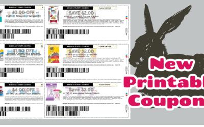 New Printable Coupons!!!
