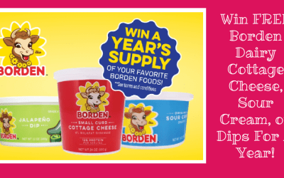 Win FREE Borden Dairy Cottage Cheese, Sour Cream, or Dips For A Year!