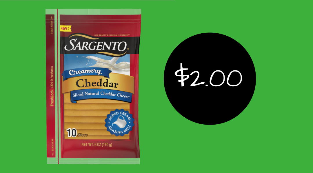 Sargento Creamery Cheese Slices $2 at Publix