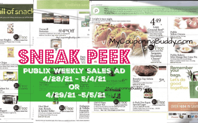 Publix Weekly Sale 4/28/21 – 5/4/21 or 4/29/21 -5/5/21 Ad Preview