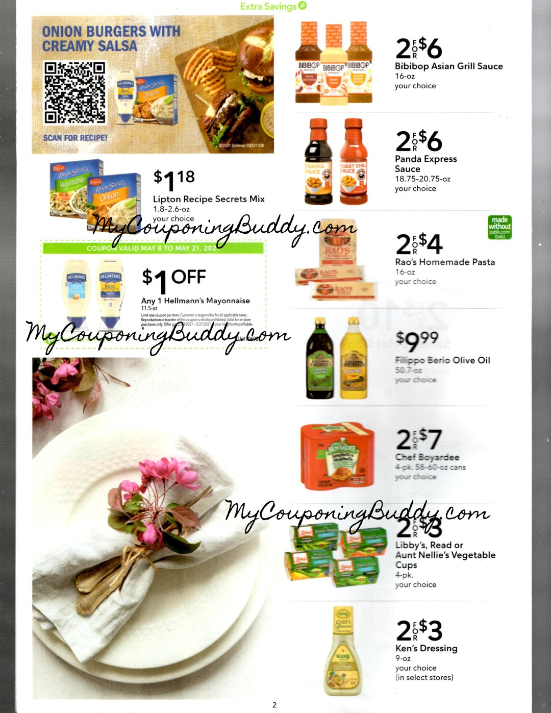 Publix Extra Savings Flyer 5/8/21 to 5/21/21 Early Ad Preview