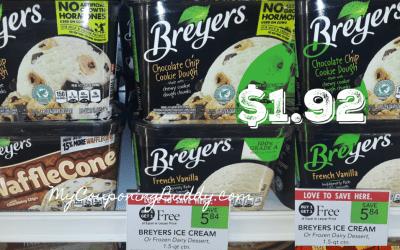 Breyer's Ice Cream $1.92 at Publix