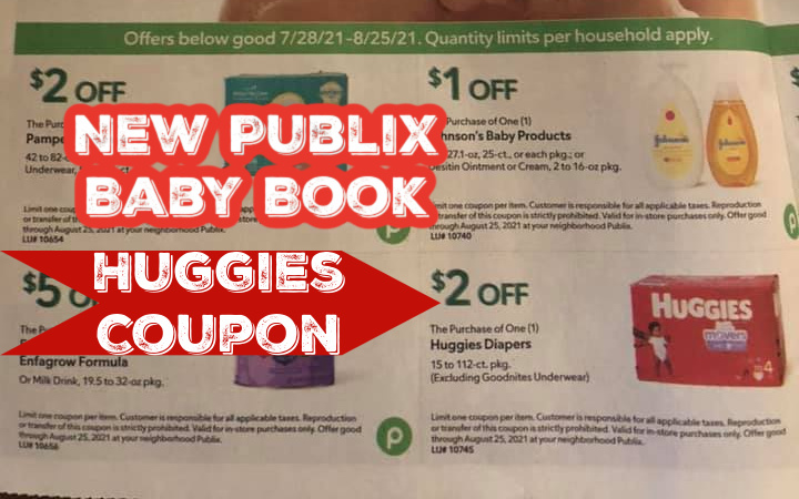 New Baby Coupon Book and Sale Beginning  7/28  at Publix