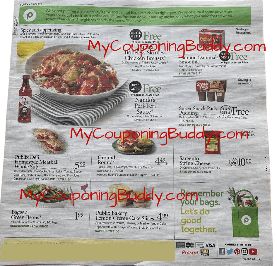 Early AD Preview Publix Weekly Sale 7/28/21 - 8/3/21 or 7/29/21 -8/4/21