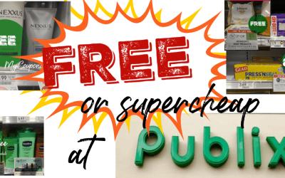 Publix Deals FREE or Super Cheap this week!