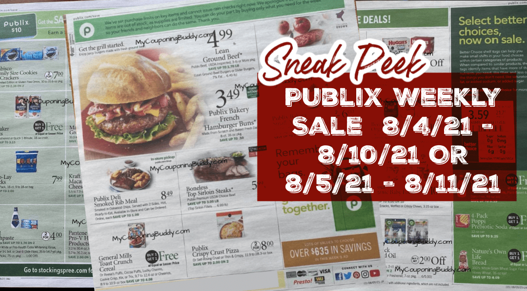 Early Ad Preview Publix Weekly Sale 8/4/21 - 8/10/21 OR 8/5/21 - 8/11/21