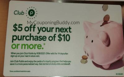 Earn a $5 Publix Coupon when you join ClubPubix