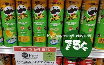 Pringles Potato Chips 75¢ at Publix