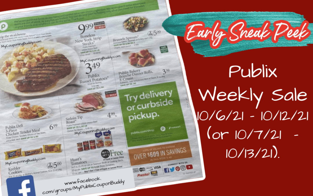 Publix Weekly Sale 10/6/21 – 10/12/21 (or 10/7/21 – 10/13/21).