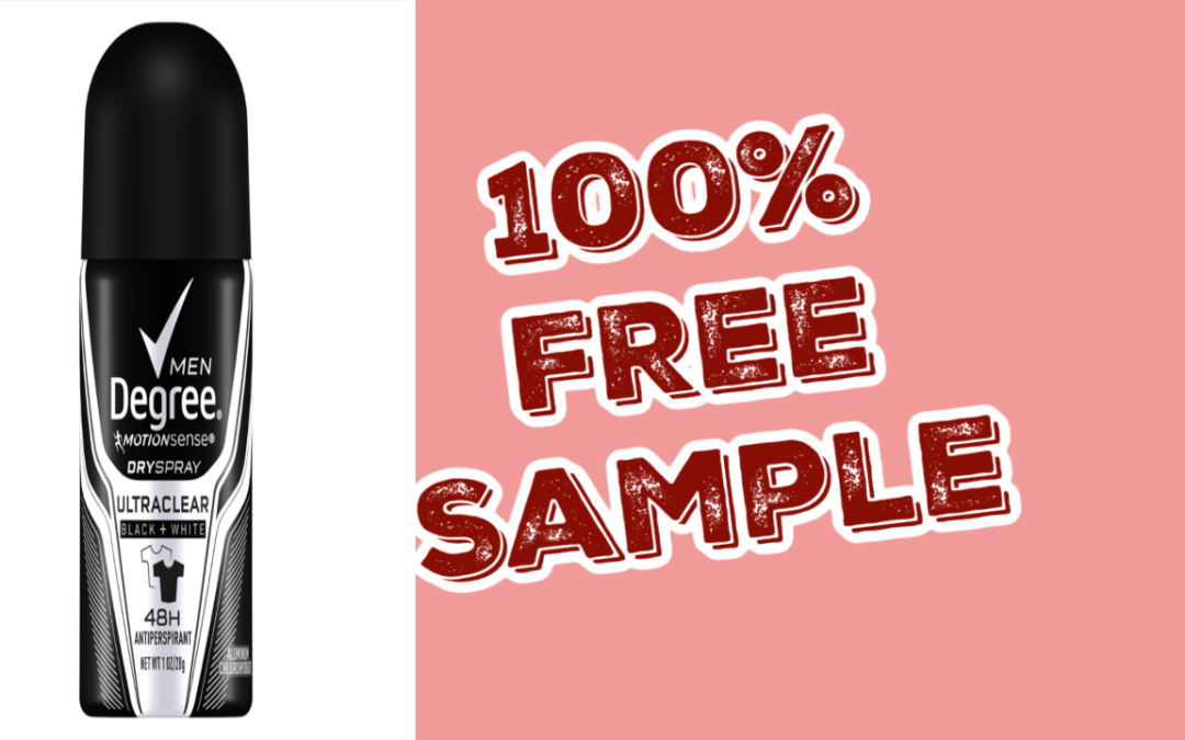 FREE Sample of Degree Men's or Women's Deodorant mailed to you!