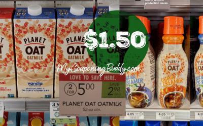 Planet Oat Milk $1.50 at Publix