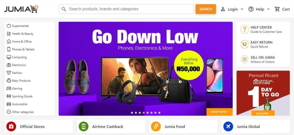 Jumia Official Website