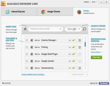 Auslogics Browser Care 5.0.18.0