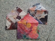 Recycled envelope from magazines