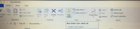 My document create folder