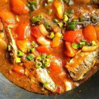 Pilchards Tomato Curry and Stewed Pumpkin Mauritian Style