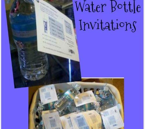DIY Water Bottle Invitations