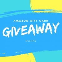 $50 Amazon Gift Card Giveaway Ends 4/16