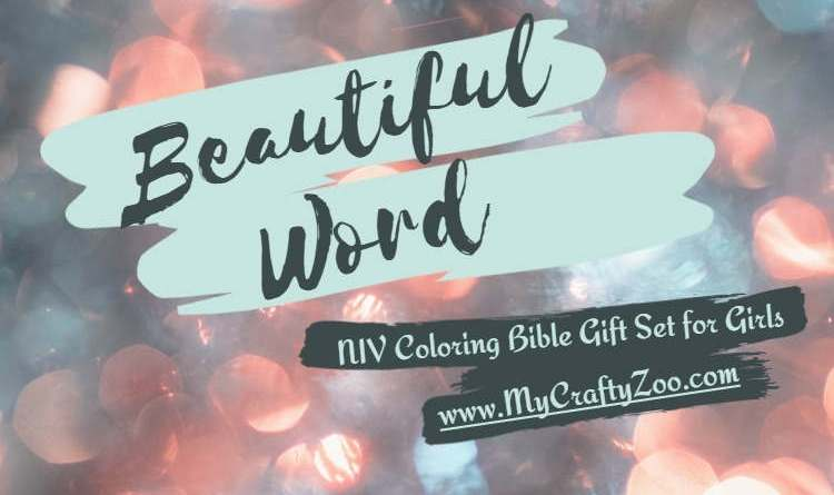 Beautiful Word: NIV Coloring Bible Gift Set For Girls