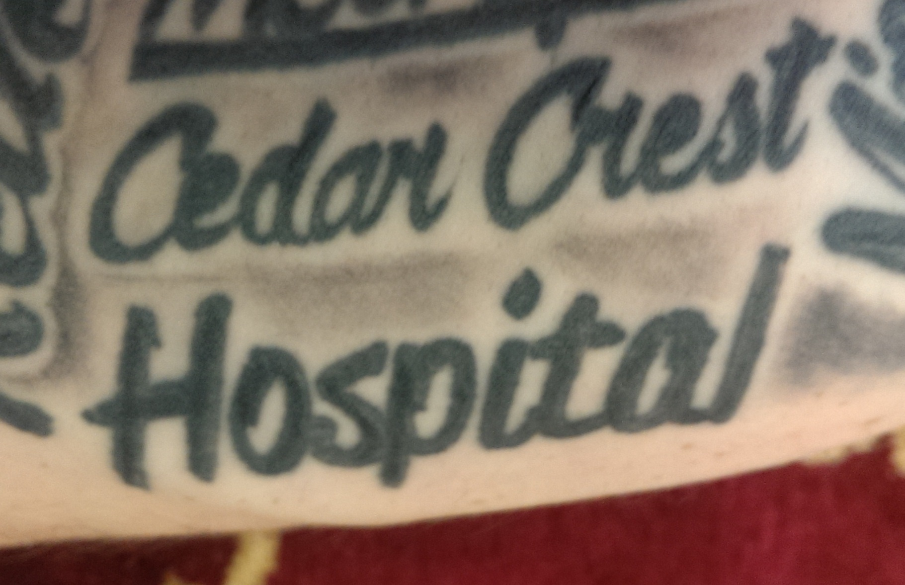 cedar crest Hospital doctor tattoo