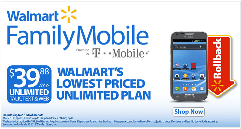 Unlimited Everything Cell Phone Plans Walmart