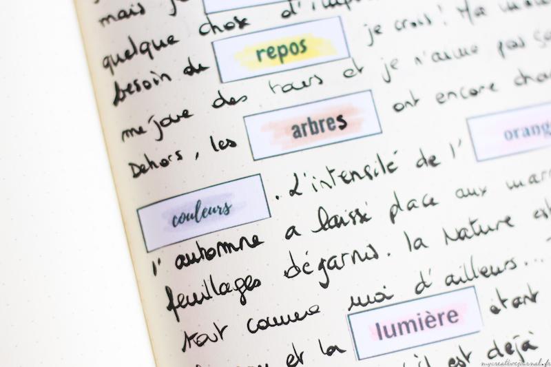 exercice ecriture bullet creative art journal