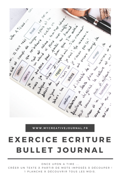 exercice écriture bullet journal