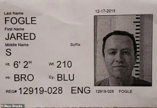 jared fogle mugshot photos