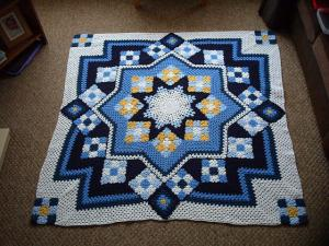 Blue Star Afghan Free Pattern – Beautiful for 2020! (1)