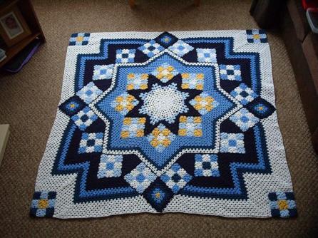 Blue Star Afghan Free Pattern