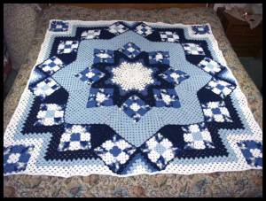 Blue Star Afghan Free Pattern – Beautiful for 2020! (2)