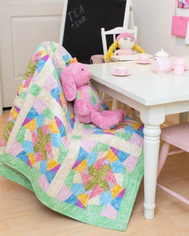 Crazy Baby Quilt free pattern