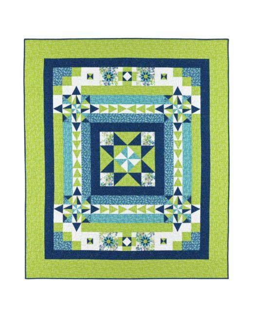 Boxing the Compass Throw Quilt Pattern