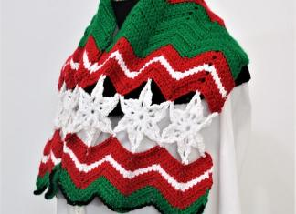 Christmas Scarf free pattern
