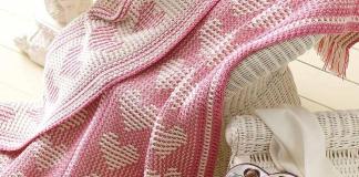 Blanket Hearts Crochet Free Patterns - Souvenirs 2020