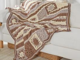 Crochet Afghan blanket brown tones Free Patterns