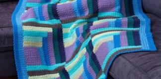 Crochet Log Cabin Thrown