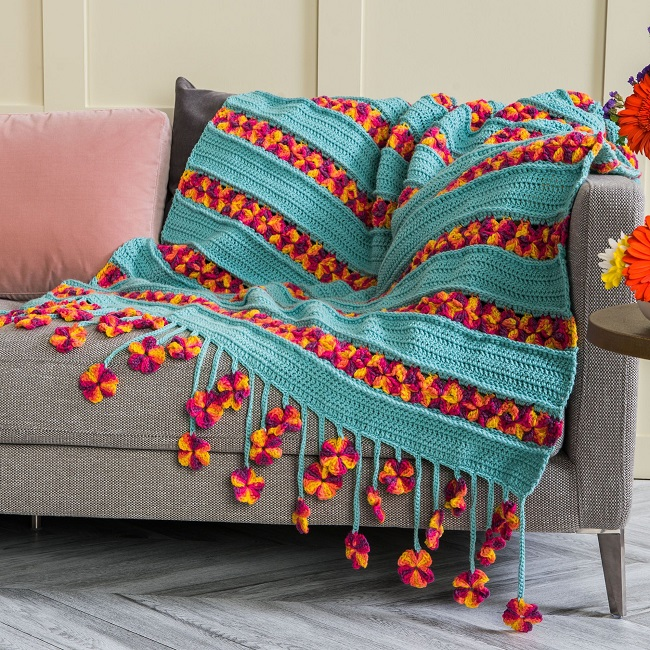 Crochet Garden Flowers Blanket