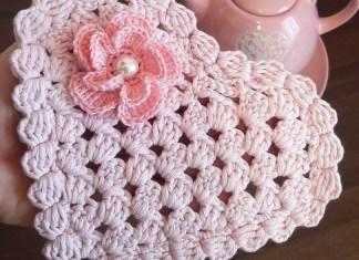 Crochet Heart Doily or Coaster