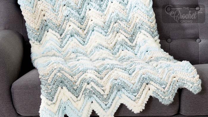 A Chevron Crochet Blanket Basic Guide Crochet Raised Chevron Blanket The Crochet Crowd