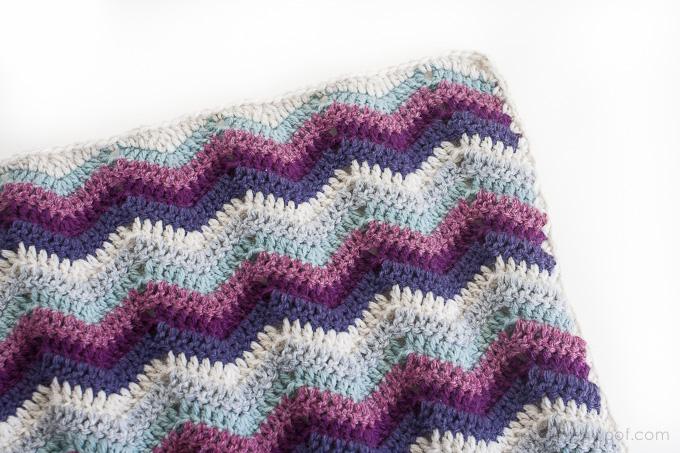 A Chevron Crochet Blanket Basic Guide Ripple Chevron Afghan Square One Dog Woof