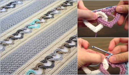 Afghans Crochet Patterns How To Crochet An Interlocking Heart Pattern Free Your Crochet