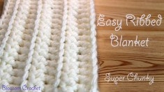 Afghans Crochet Patterns Quick And Easy Ribbed Ba Blanket Crochet Pattern Video Tutorial