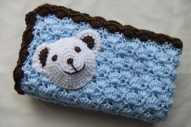 Basic & Standard Patterns for Boy Blanket Crochet Ba Boy Blanket Crochet Ba Blanket Bluechocolate Polar Etsy