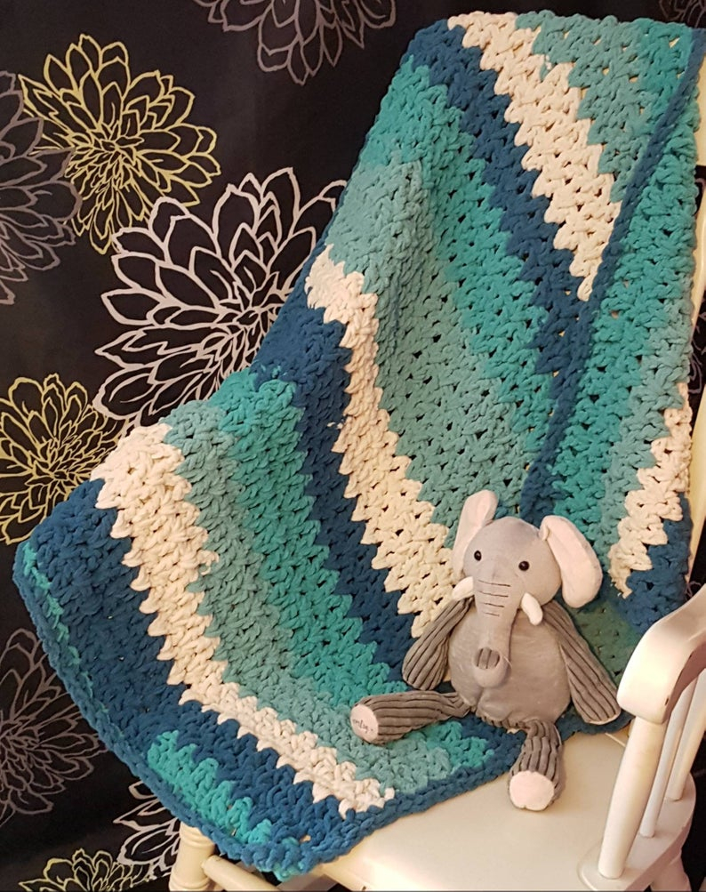 Basic & Standard Patterns for Boy Blanket Crochet Teal Andturquoise Handmade Crochet Ba Boys Blanket Crochet Etsy