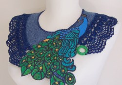 Best Crochet Collar Pattern for You to Make Handpainted Denim And Crochet Collar Aly Flickr